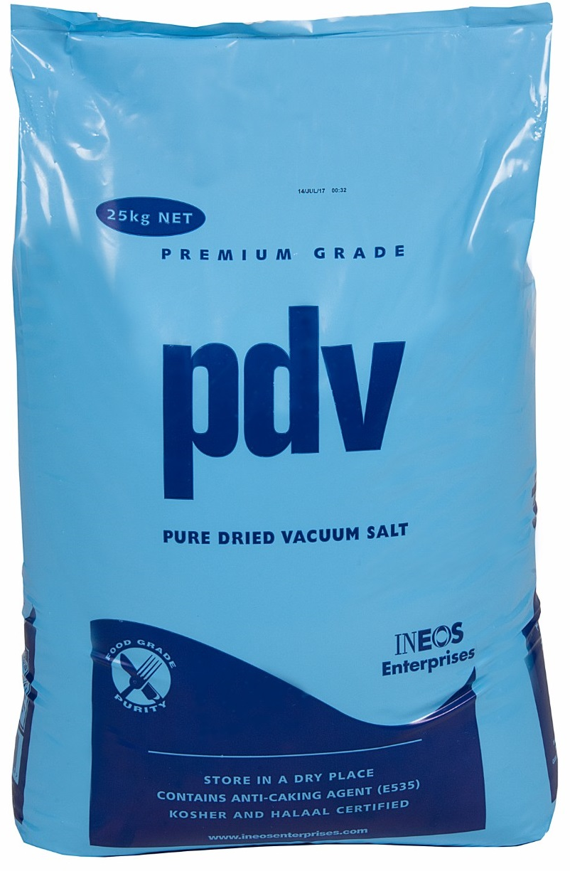 PDV Pure Dried Vacuum Salt 25kg x 10 Bags