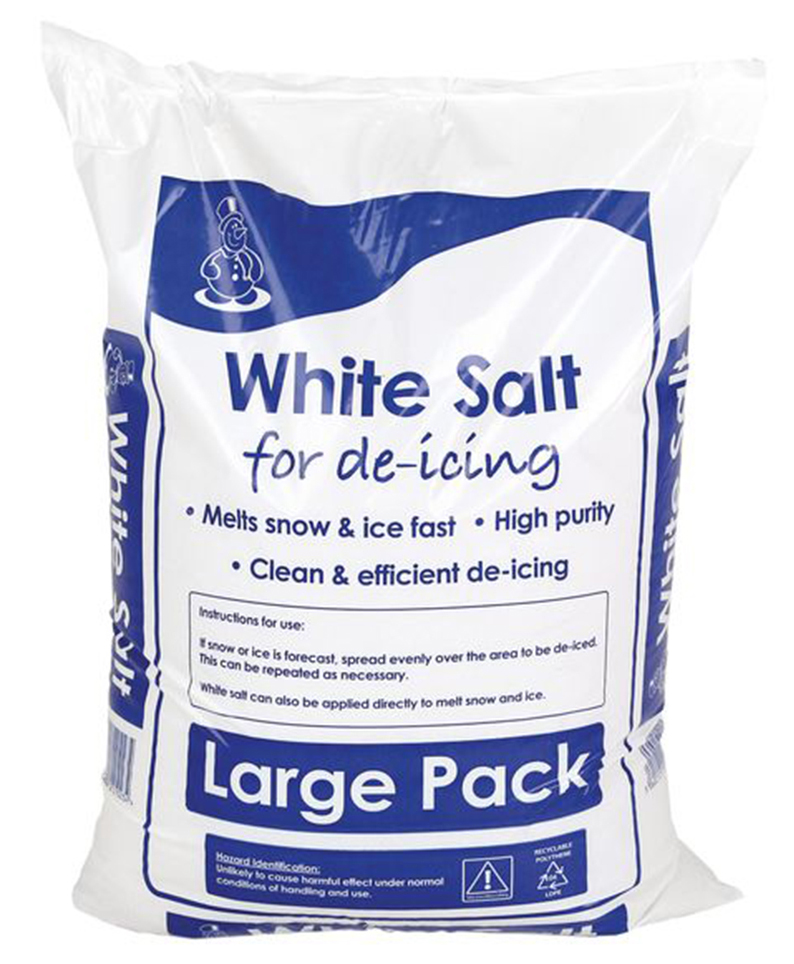White Deicing Rock Salt 25kg x 5 bags